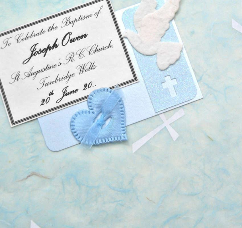 Blue Crosses Baptism Keepsake Boxes and Chests