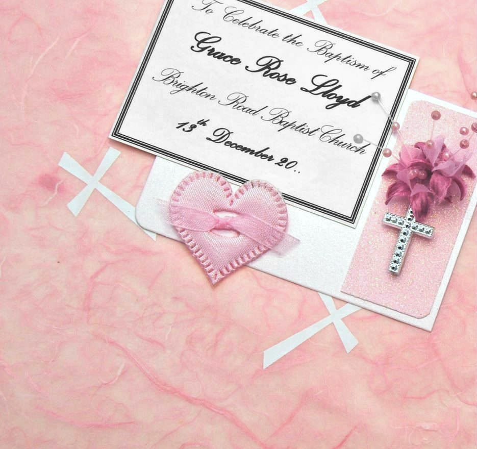 Pink Crosses Baptism Keepsake Boxes and Chests